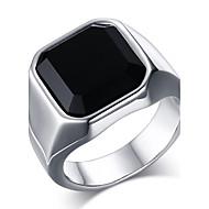 Statementringen Ring Onyx Roestvast staal Agaat Modieus Goud Zilver Sieraden Dagelijks Causaal 1 stuks
