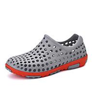 男性-アウトドア カジュアル-化繊-フラットヒール-モカシン 穴の靴-サンダル-ブルー ブラウン ホワイト グレイ