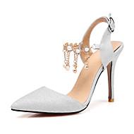 Sandály-Třpytky-Jiné-Dámské-Fialová Stříbrná Zlatá-Svatba Kancelář Party-Vysoký
