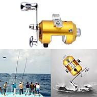 Mini Pocket Pen Fish Drum High Hard Alloy Outdoor Fishing Reel Drum Wheel Speed Ratio 2.1:1 Golden Dia 2.7cm