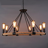 4W Chandelier ,  Country Painting Feature for LED / Designers Metal Living Room / Dining Room / Study Room/Office / Entry / Hallway