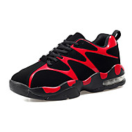Feminino-Tênis-Conforto-Rasteiro-Preto vermelho Preto branco-Couro Ecológico-Para Esporte