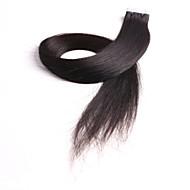 neitsi 24 20pcs '' / πακέτο 2g / pc ταινία σε φυσικό χρώμα επεκτάσεις ανθρώπινα μαλλιών παρθένα δέρμα επεκτάσεις υφάδι