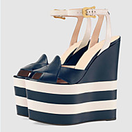 Women's Sandals Spring / Summer / Fall Shoes & Matching Bags Patent Leather / Leatherette Party & Evening / Casual Platform BuckleBlack /