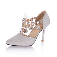 Women's Heels Spring Summer Fall Shoes & Matching Bags Glitter Wedding Party & Evening Casual Stiletto Heel Crystal Sparkling GlitterRed
