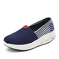Women's Sneakers Spring Summer Fall Winter Creepers Crib Shoes Fabric Outdoor Office & Career Casual Wedge Heel Platform Blue Red Walking