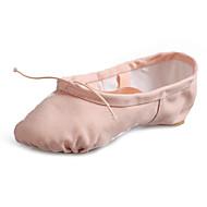 Kan spesialtilpasses-Dame-Dansesko-Ballett-Lerret-Flat hæl-Svart Rosa Rød Kaffe Mandel