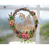 Tortenfiguren & Dekoration individualisiert Klassisches Paar Kartonpapier Hochzeit Jubliläum Brautparty GelbGarten Thema Blumen Thema