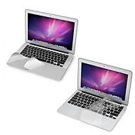 """ultra tynde TPU tastatur cover + metal hvile beskyttende film og touch-panel membran til 11,6 """"/13.3"""" macbook air"""