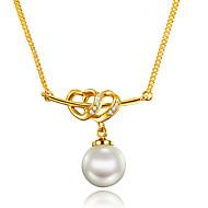 Modische Halsketten Perle Kubikzirkonia Anhängerketten Schmuck Geburtstag Verlobung Hochzeit Party Alltag Normal Weihnachts Geschenke