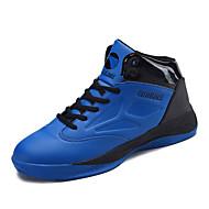 Kényelmes-Lapos-Női cipő-Sportcipők-Szabadidős-PU-Fekete Kék Piros