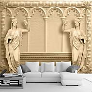 アールデコ調 3D ホームのための壁紙 クラシック風 ウォールカバーリング , キャンバス 材料 接着剤必要 壁画 , ルームWallcovering