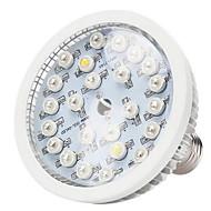 24W E26/E27 LED-drivhuslamper 24 Høyeffekts-LED 580-660 lm Varm hvit Naturlig hvit Rød Blå UV AC 85-265 V 1 stk.
