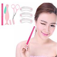4Pcs Professional Eyebrow Shaping Tools Set Makeup 5 Colors Eyebrow Pencil Choice Razor Scissors Combs Hot