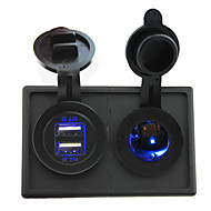 12V / 24V LED konnektorba és 4.2a Dual USB port házzal tartó panel autó hajó teherautó rv