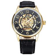 Men's Women's Unisex Sport Watch Fashion Watch Wrist watch Mechanical Watch Mechanical manual-winding Genuine Leather BandVintage Casual