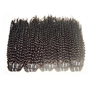 wholesale 1kg 10pieces brazilian kinky curly virgin hair 8a grade 100% human hair extensions weaves natural black color