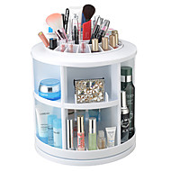 Meikkien säilytys Cosmetic Box / Meikkien säilytys Plastic Yhtenäinen Pyöreä 26*26*27CM Punainen / Oranssi / Ivory