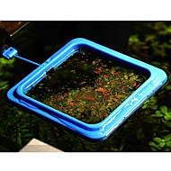観賞魚フィーダー平方プラスチック青3枚