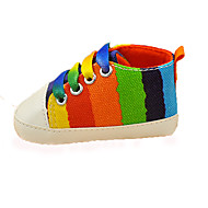Baby Flats Spring Summer Fall Winter First Walkers Canvas Casual Flat Heel Black Blue Red