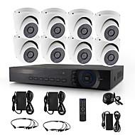 yanse® 8chl 720p 1200tvl d / n CCTV-Kamera ir 36 geführt Kuppel wasserdicht verdrahtete ahd DVR-Kit Sicherheitssystem