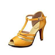 Women's Sandals Spring Summer Fall Other Silk Party & Evening Dress Casual Stiletto Heel Buckle Black Yellow Red White