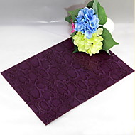 Snake pattern Leather without washing placemat Dining Table / Table Decoration / Dinner Decor / Home Decoration