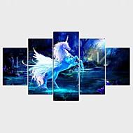 Lámina enmarcada Fantasía Animal Clásico Modern,Cinco Paneles Lienzos Cualquier Forma lámina Decoración de pared For Decoración hogareña