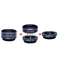 Apexel 5 in 1 HD Camera Lens Kit 198Fisheye Lens0.63x Wide Angle15x Macro Lens2X Telephoto LensCPL Lens for iPhone 7 6/6s 6/6s Plus SE Samsung Ga