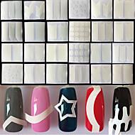 24 Nagelkunst sticker Franse nagels gids make-up Cosmetische Nagelkunst ontwerp
