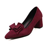 Damen High Heels Komfort Slouch Stiefel PU Herbst Winter Normal Komfort Slouch Stiefel Schnürsenkel Niedriger Absatz Schwarz Rot Blau2,5
