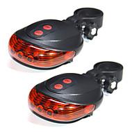 youoklight 2pcs 5LED 2Laser bicicleta ciclismo moto luz da lâmpada de aviso da lâmpada traseira de segurança modo impermeável cauda laser