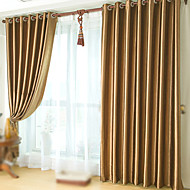 Two Panels Θεραπεία Παράθυρο Νεοκλασικό , Μονόχρωμο Υπνοδωμάτιο Πολυεστέρας Υλικό Κουρτίνες συσκότισης κουρτίνες Αρχική Διακόσμηση For