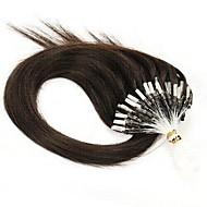 7α μη επεξεργασμένα παρθένα ανθρώπινα μαλλιά μικρο δαχτυλίδι μαλλιά / βρόχος μαλλιά επεκτάσεις παρθένο κερατίνη μαλλιά κάψουλα σύντηξης