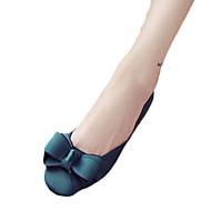 Kényelmes-Alacsony-Női cipő-Lapos-Alkalmi-PU-Fekete Zöld Rózsaszín