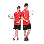 Ademend Comfortabel-Unisex-Badminton-Pakken/Kledingsets(Rood Zwart)
