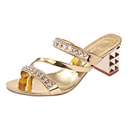 Women's Heels Spring Summer Comfort PU Casual Low Heel Others Silver Rose Gold Other