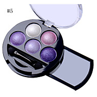 5 Colors Professional Shimmer Natural Eyes Makeup Pigment Eyeshadow Palette Metallic Nude Eye Shadow Powder Palette Maquiagem