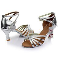 Women's Dance Shoes  Satin / Leatherette Latin/Ballroom/Samba Sandals Customized Heel Indoor More Color