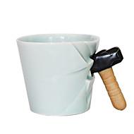 アイデアジュェリー コップ, 350 ml BPAフリー セラミック ヌード 牛乳 マグカップ トラベルマグ