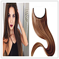 extensão do cabelo humano cabelo europeu de qualidade superior 8a série aleta Mechas real no cabelo extensões de cabelo reto virgem