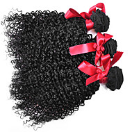 Cabelo Humano Ondulado Cabelo Brasileiro Kinky Curly 12 meses 3 Peças tece cabelo