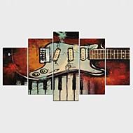 Híres Absztrakt tájkép Klasszikus Modern,Öt elem Vászon bármilyen forma Nyomtatás fali dekoráció For lakberendezési