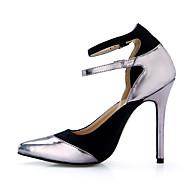 נשים-עקבים-PU-נוחות-אפור כהה-משרד ועבודה שמלה-עקב סטילטו