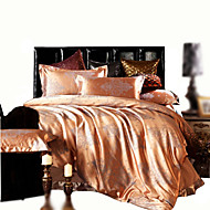 Bedtoppings Cotton Rich Jacquard Embossed 4pcs Duvet Cover Set Queen Size
