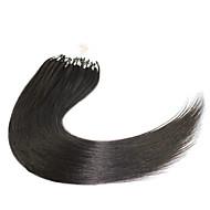 κορυφαία ποιότητα μικρο χάντρες δαχτυλίδι βρόχο μαλλιά επεκτάσεις 7α βραζιλιάνα παρθένα μαλλιά μεταξένια και λεία ίσια μαλλιά Περού μικρο