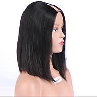 12 polegadas estilo curto u parte bob peruca 8a perucas cabelo brasileiro upart peruca corte perucas ao Lado meio remy perucas parte do