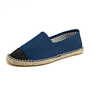 Men's Loafers & Slip-Ons Spring Summer Fall Espadrilles Canvas Outdoor Office & Career Casual Flat Heel Gore White Gray Navy