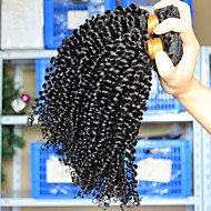 3Pcs/Lot Brazilian Virgin Hair Kinky Curly Wave 100% Human Hair Unprocessed Hair Large Stock