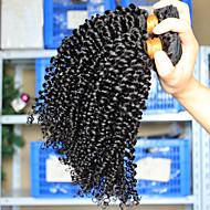 Cabelo Humano Ondulado Cabelo Brasileiro Kinky Curly 6 meses 3 Peças tece cabelo